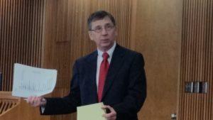 Bill Ivoska presents results of youth survey.