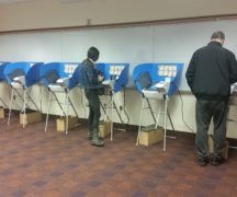 Voters cast ballots at Wood County District Public Library earlier this year.