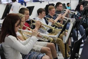 BGHS band trumpets