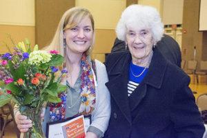 Gloria Gajewicz with Mary Pohlmann, widow of science education professor Neil Pohlmann.