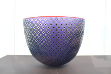 "Hyacinth Bowl by Robert Wynne, from the collection of Milt and Lee Hakel, and now on display in ""Hot Spot."""