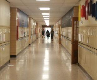 Bowling Green High School hallway.