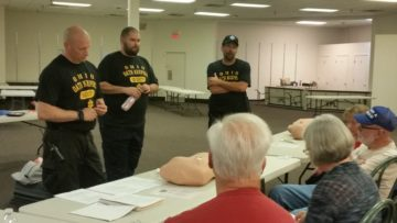 Oath Keepers teaching medical class talk about inserting chest tubes.