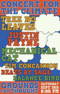 concert for the climate poster