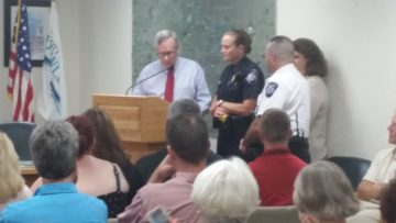 Officer Robin Short was recognized for Hometown Hero Award.