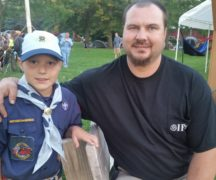 Conner Beck with his dad, Aaron Beck