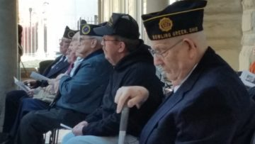 Veterans at service in courthouse atrium